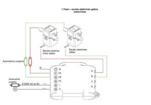 shelly 3em 1 fazės pajungimo schema