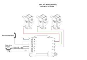 shelly 3em 1 fazes trijų grandinių schema